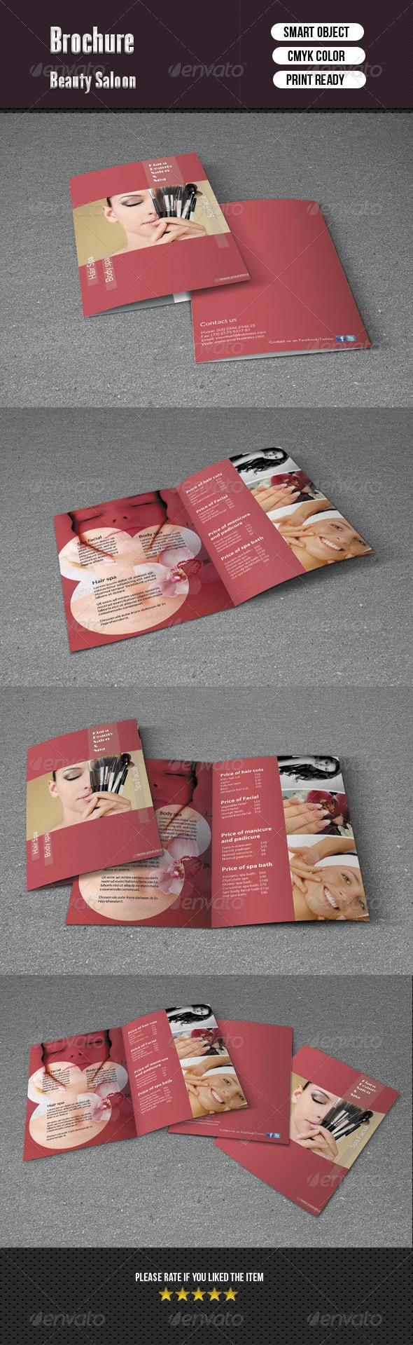 GraphicRiver Bifold Brochure- Beauty Salon 6155714