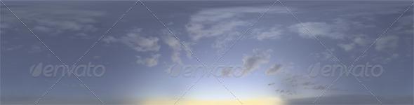 3DOcean Skydome HDRI Blue Moment II 6155871