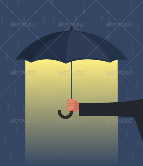 GraphicRiver Hand Holding an Umbrella 6155902