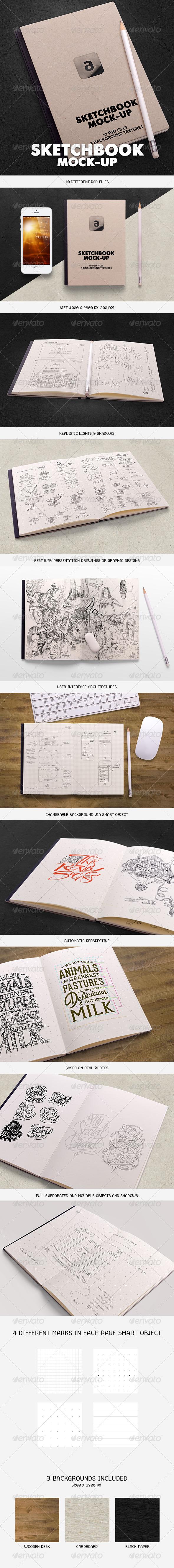 GraphicRiver Sketchbook Mock-up 6125102