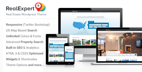 ThemeForest Real Expert Responsive Real Estate WP Theme 6131977