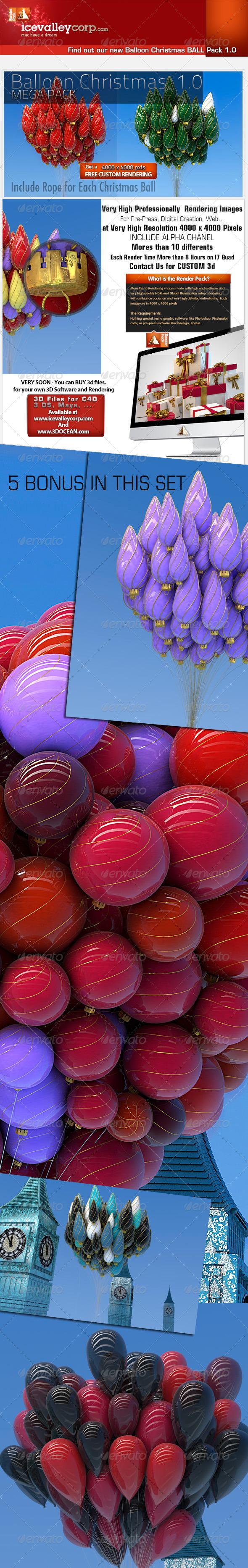 GraphicRiver Christmas Balloon Ball Decoration-Hires 6156089