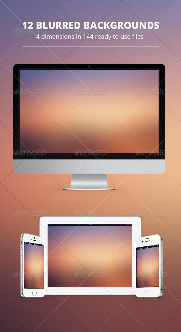 GraphicRiver 12 Blurred Backgrounds vol.1 6092974