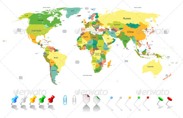GraphicRiver Political World Map 6156016