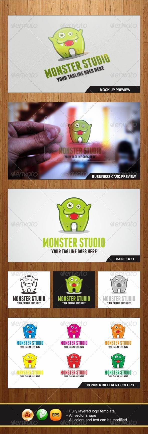 GraphicRiver Monster Logo 6156173