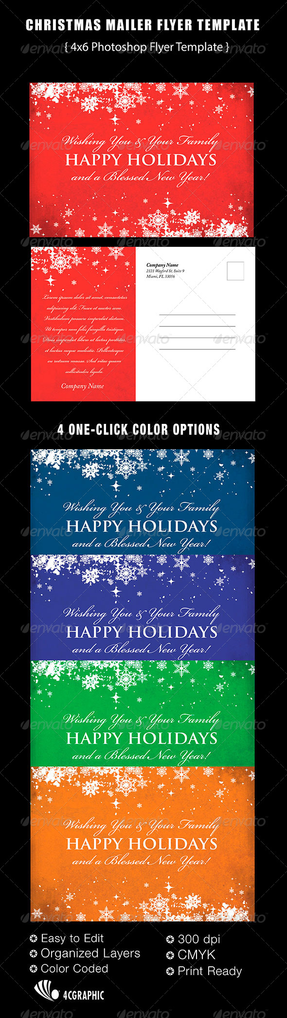 GraphicRiver Christmas Mailer Flyer Template 6151058