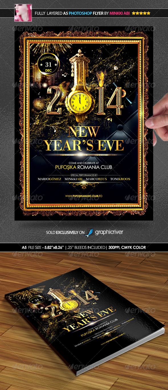GraphicRiver Deluxe New Year Poster Flyer 6156884