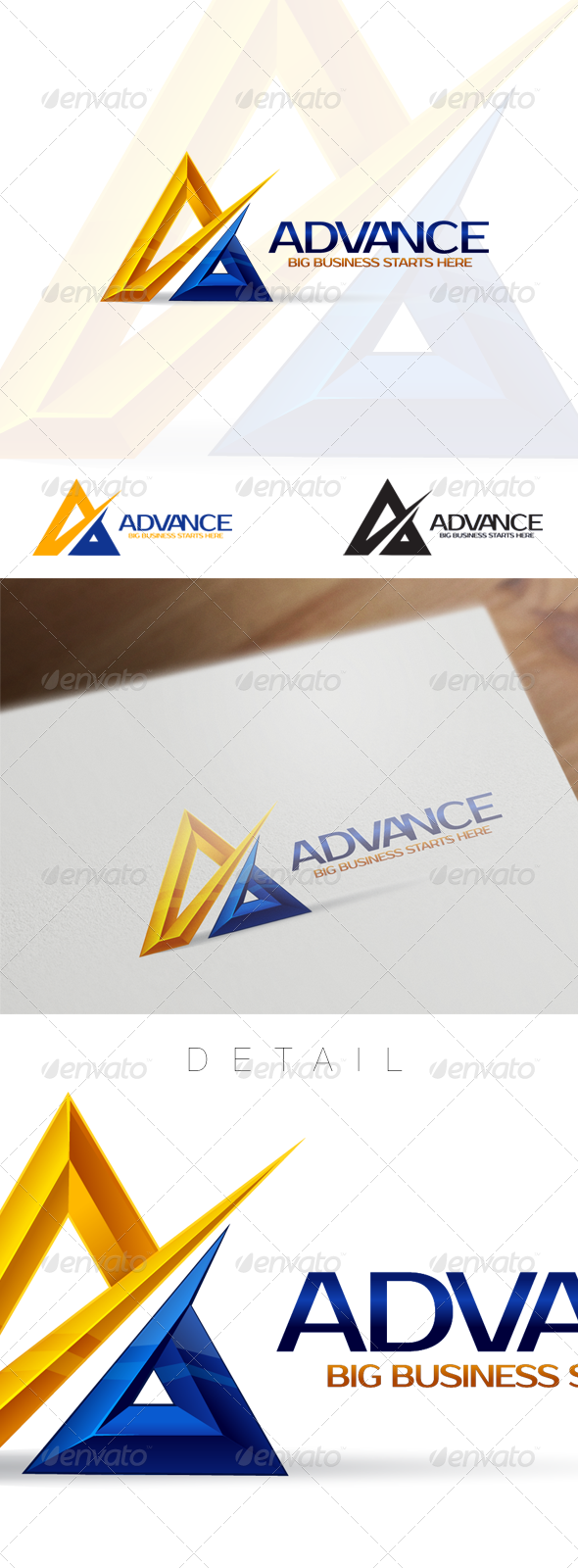 A Letter Business and Corporate Logo