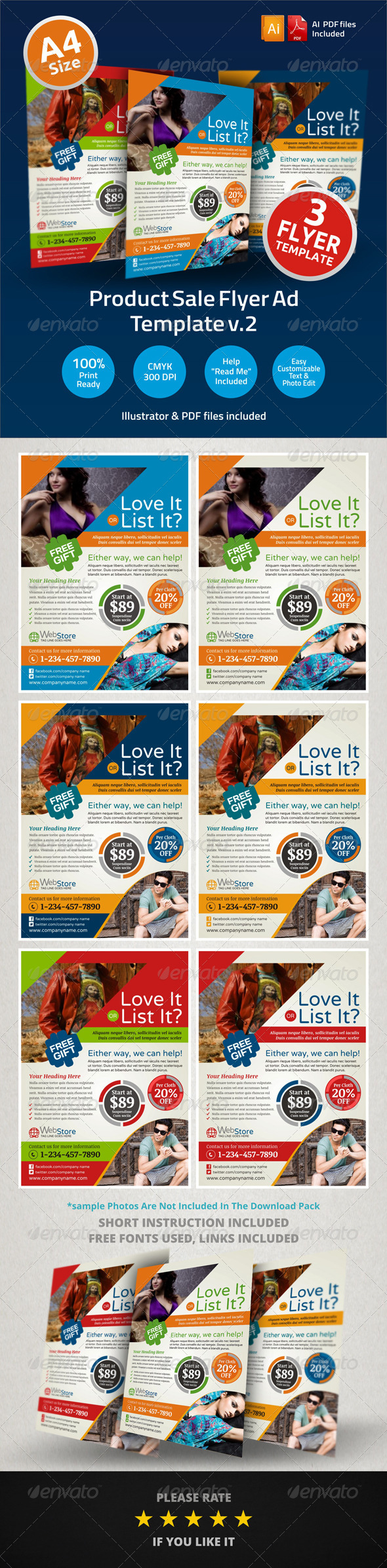 Product Sale Flyer Ad Template v2