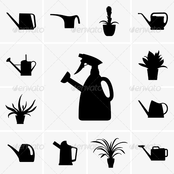 GraphicRiver Watering Cans 6157235