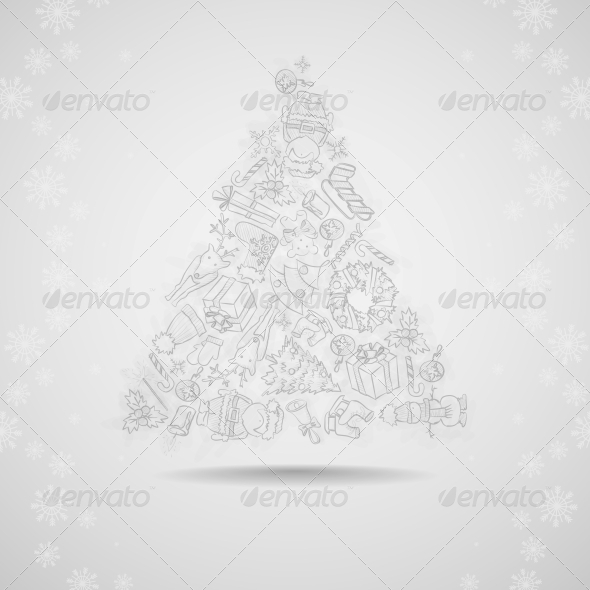 GraphicRiver Hand Drawn Christmas Set 6157859