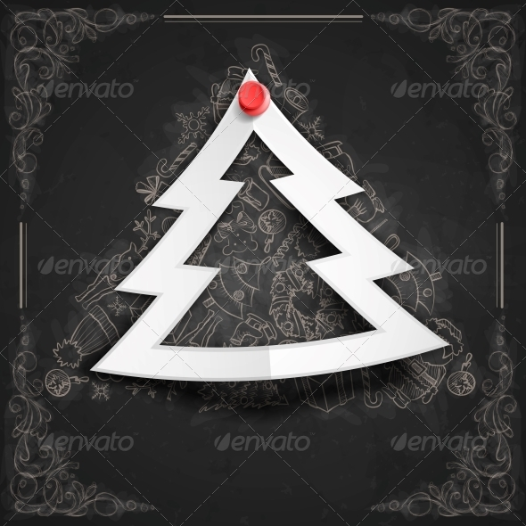 GraphicRiver Merry Christmas Stylish Tree 6157864