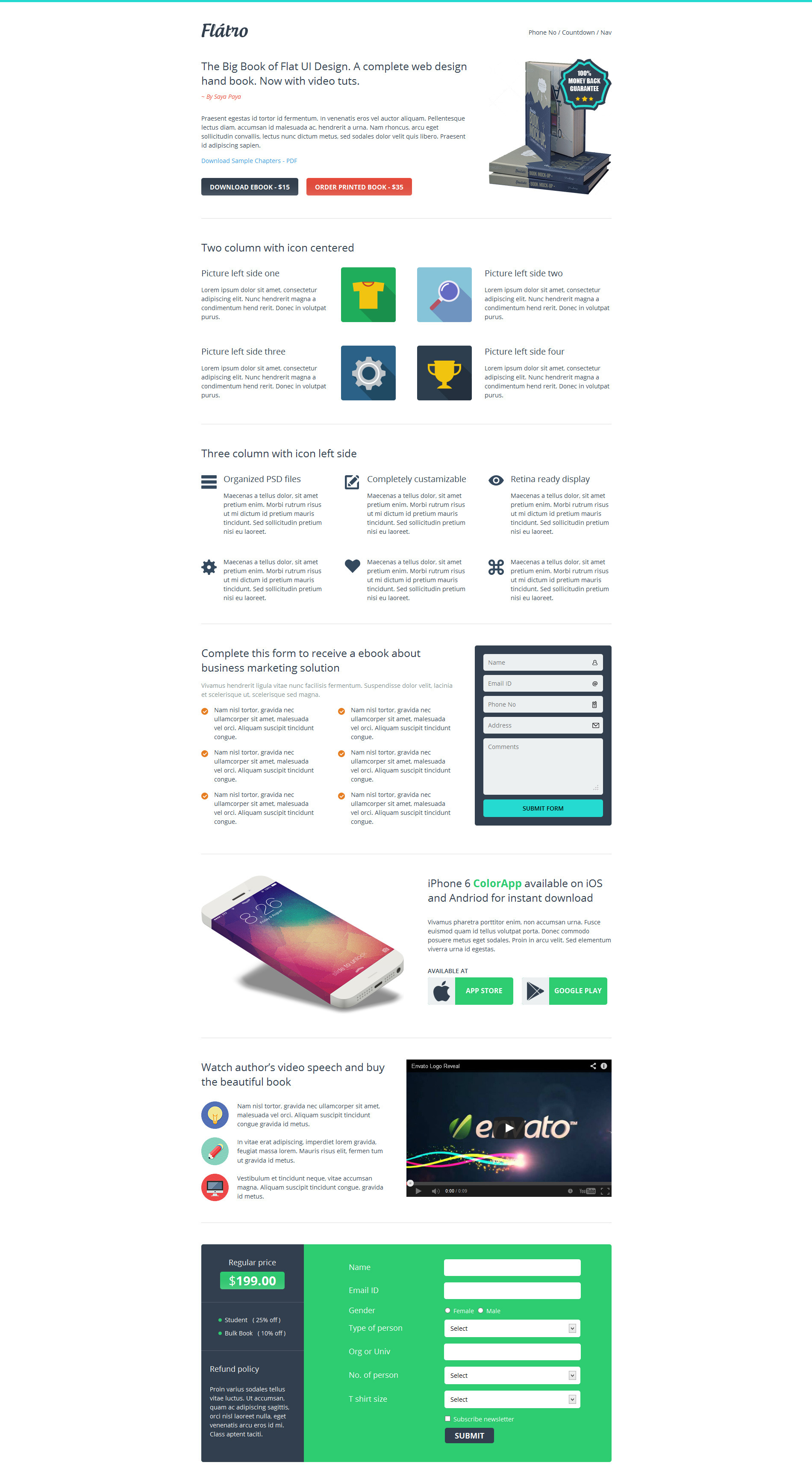 Flátro - Multipurpose Premium Landing Pages
