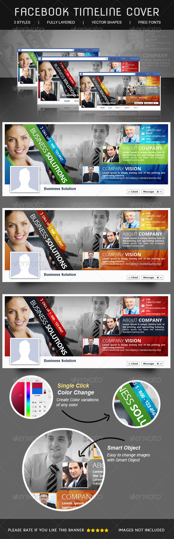 GraphicRiver Multipurpose Corporate Facebook Timeline 6157889