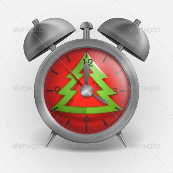 GraphicRiver Metal Classic Style Alarm Clock 6157899