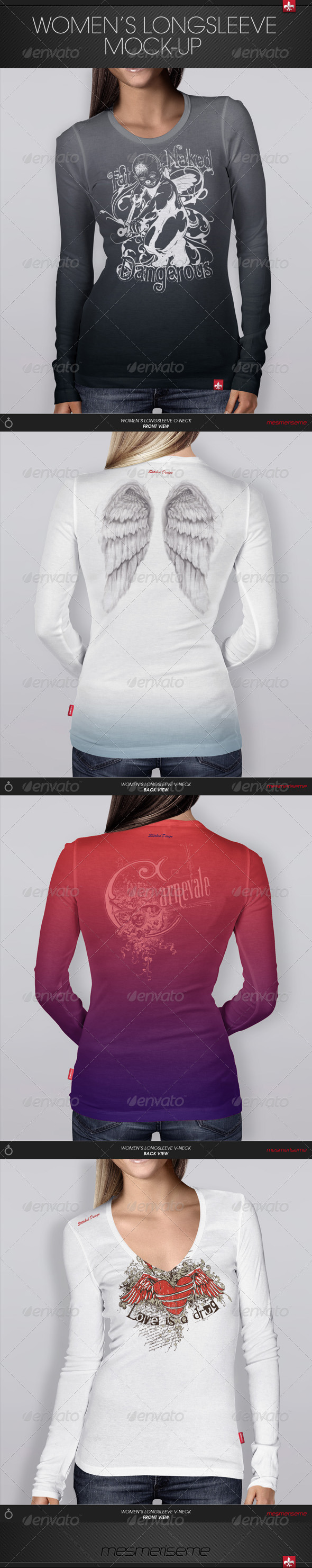 GraphicRiver Women s Longsleeve Mock-up 6158012