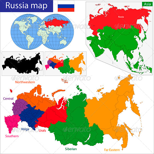 GraphicRiver Russia Map 6158113