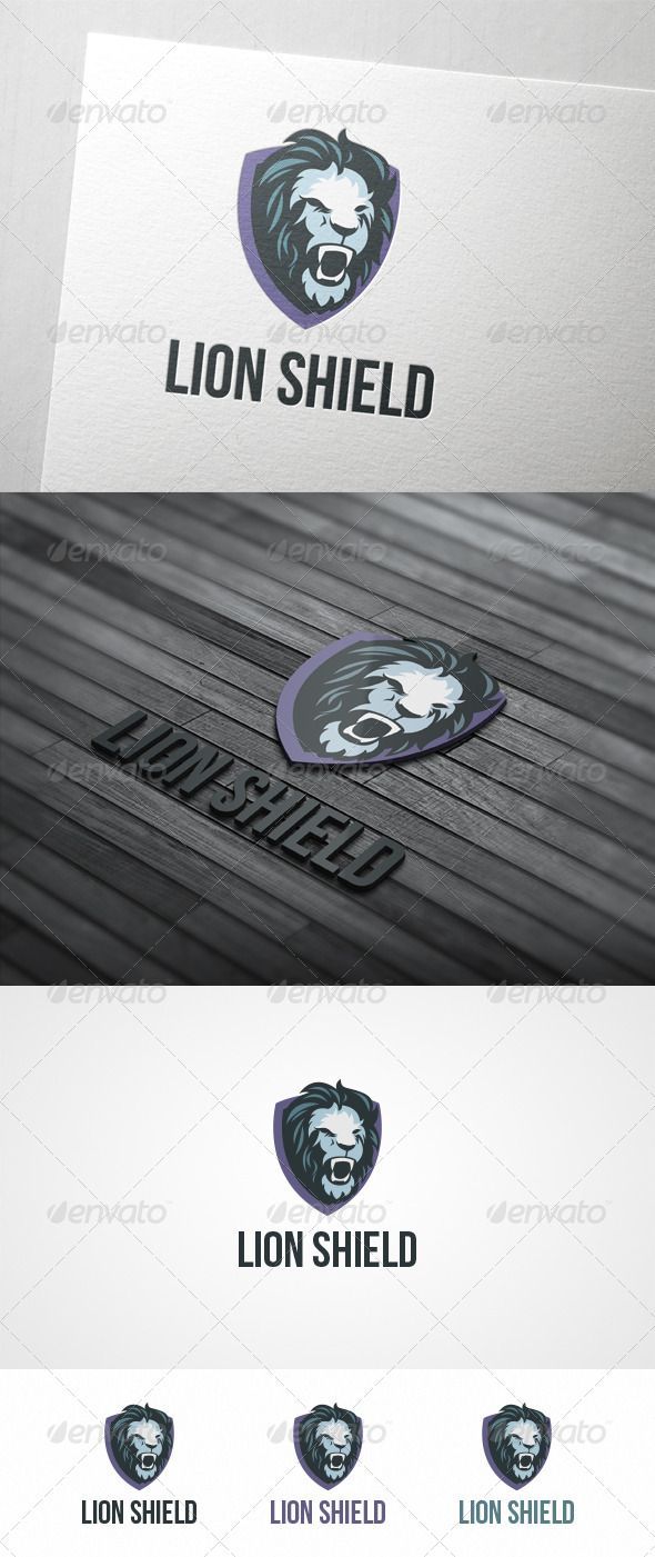 GraphicRiver Lion Shield 6158119
