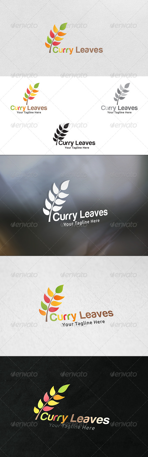 GraphicRiver Curry Leaves Logo Template 6158471