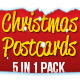 Christmas Postcards Pack - GraphicRiver Item for Sale