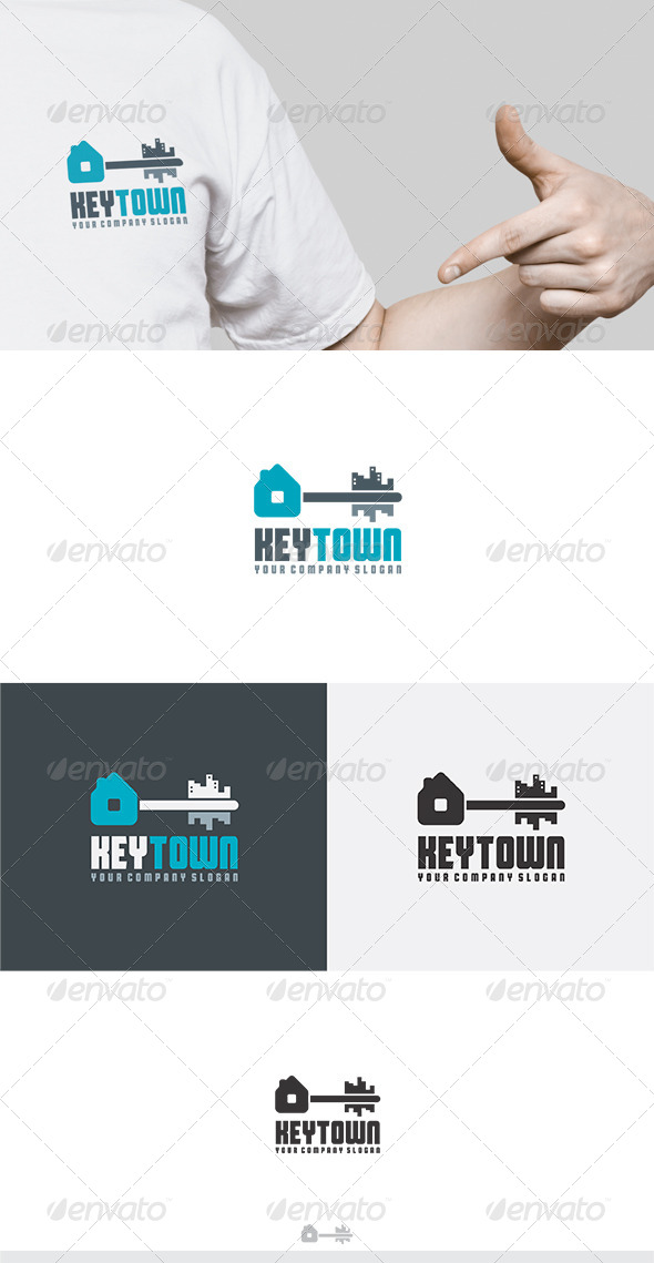 GraphicRiver Key Town Logo 6158573