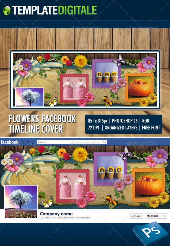 GraphicRiver Flowers facebook timeline 6158649