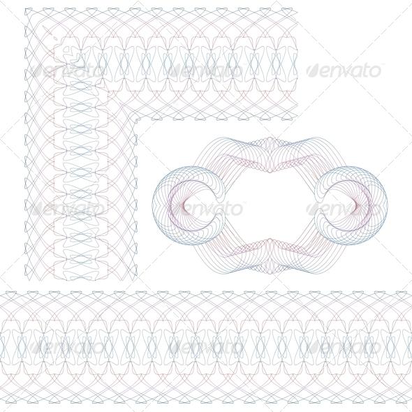 GraphicRiver Set of Decorative Guilloche Elements 6158761
