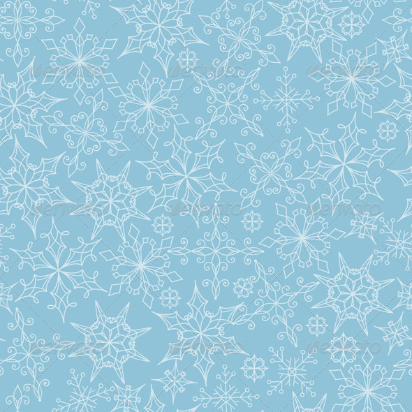 GraphicRiver Seamless Pattern with Snowflakes 6158798