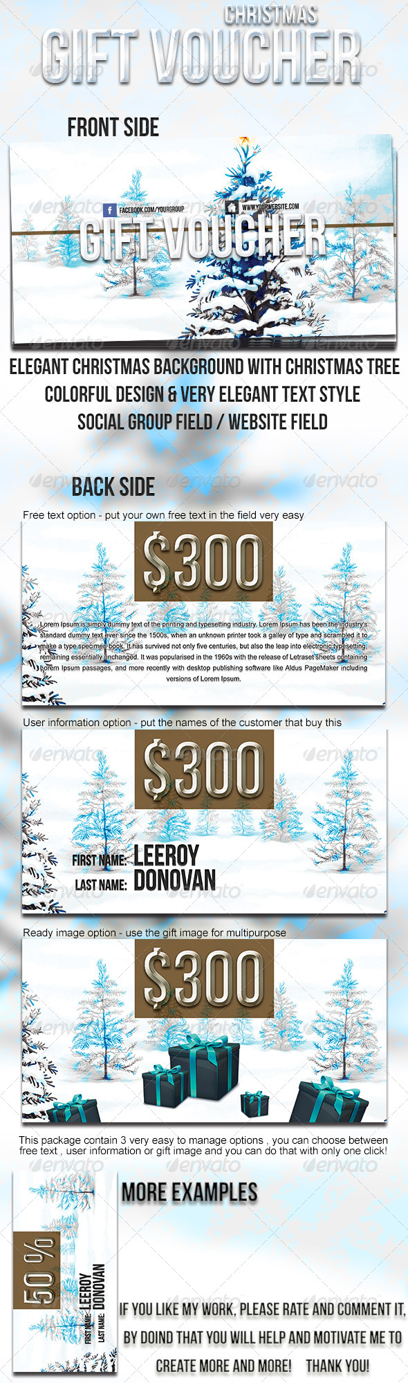GraphicRiver Christmas gift voucher 6159027
