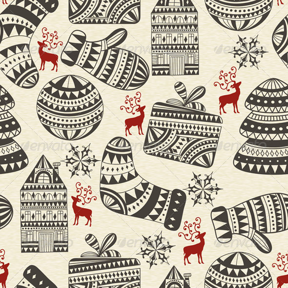 GraphicRiver Seamless Winter Pattern 6159059