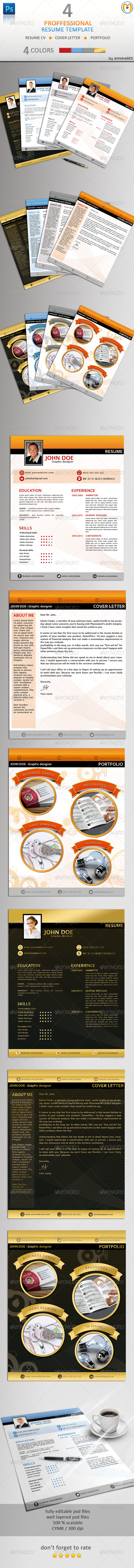 GraphicRiver Professional Resume CV V.2 6032780