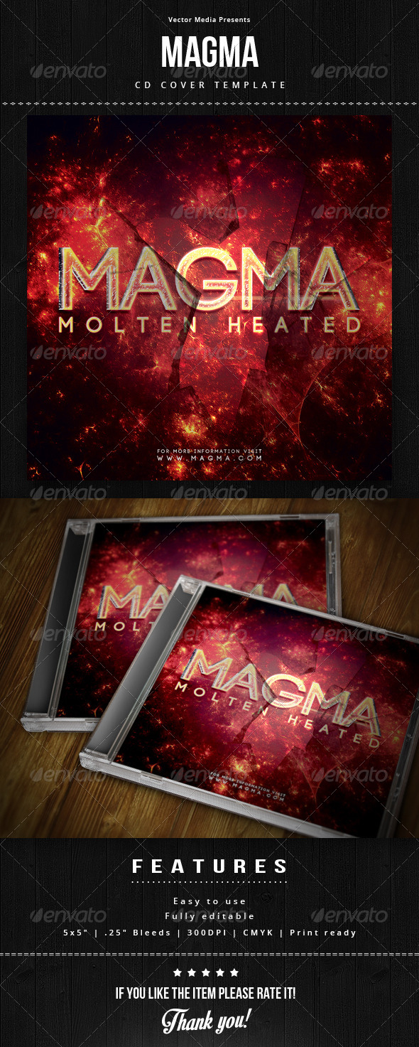 GraphicRiver Magma Cd Cover 6159188