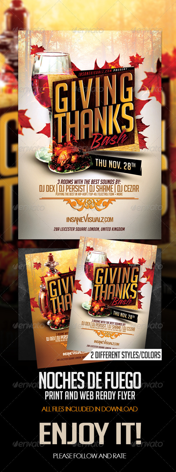 GraphicRiver Giving Thanks Flyer Template 6159197