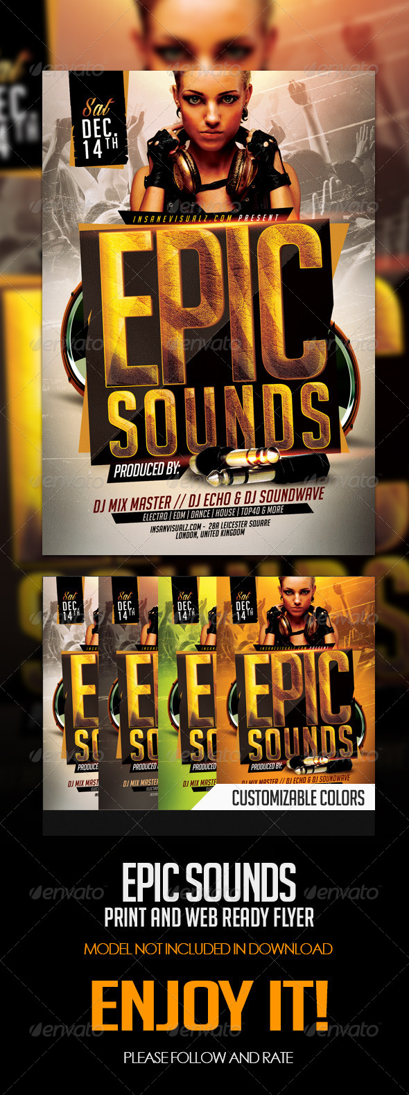 GraphicRiver Epic Sounds PSD Flyer Template 6159202
