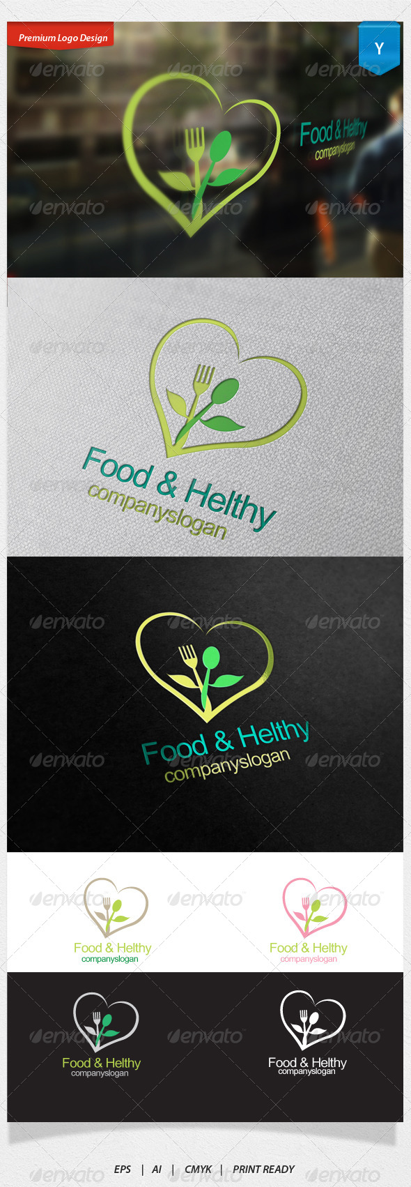 GraphicRiver Food And Healthy Logo 6159554
