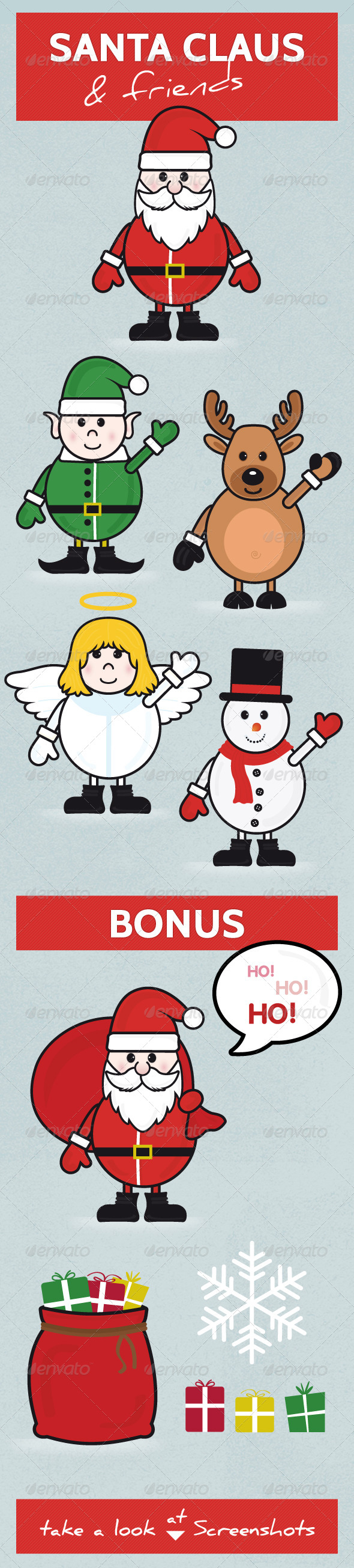 Santa Claus and Friends - Christmas Seasons/Holidays
