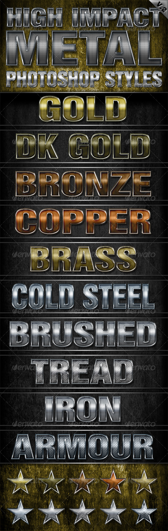 GraphicRiver High Impact Metal Photoshop Styles-V2 6159929