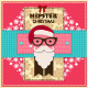 Hipster Christmas Greeting Cards