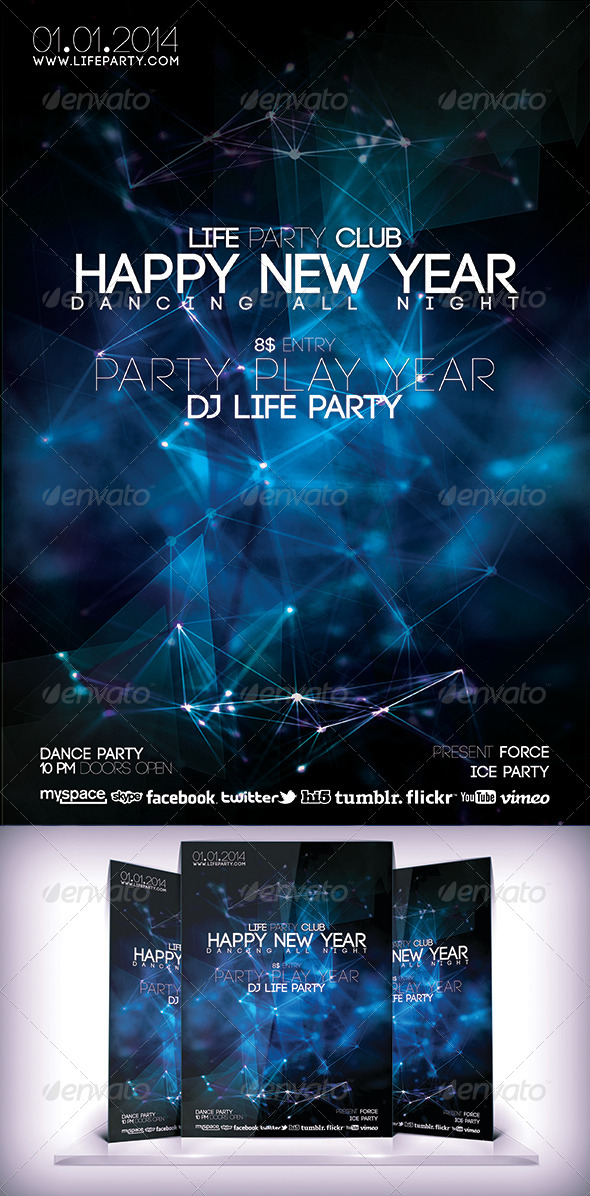 GraphicRiver Happy New Year Flyer 6160512