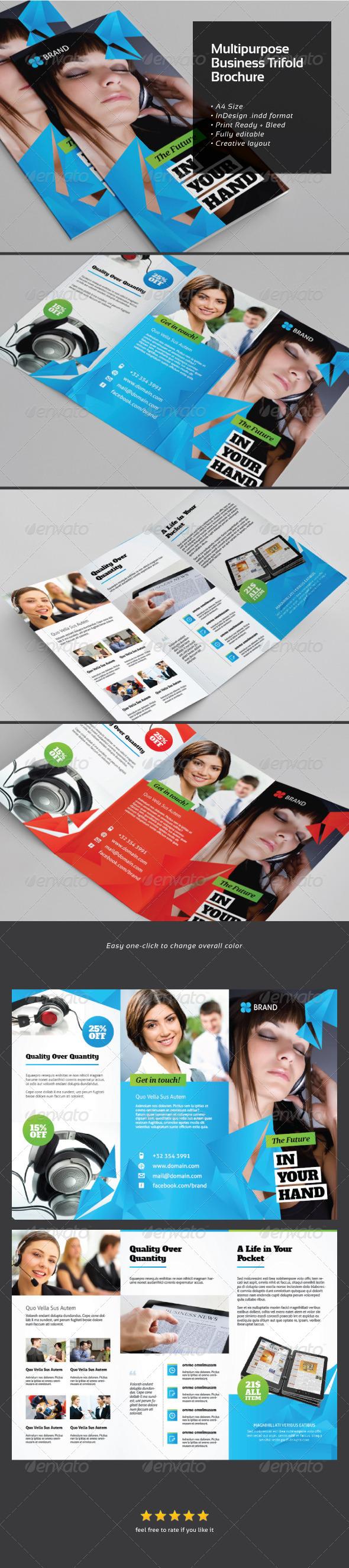 GraphicRiver Multi-purposes Business Trifold Brochure 6160522