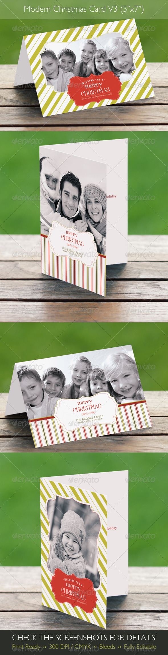 Modern Christmas Card V3 (4 in 1)