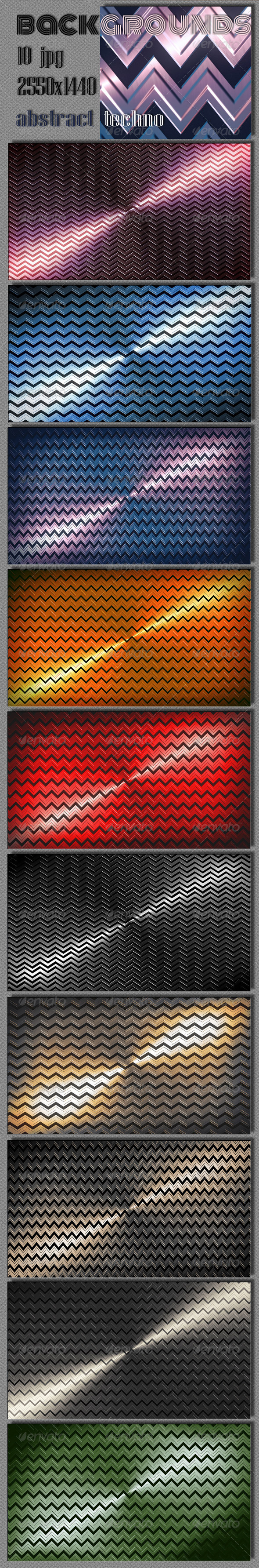 GraphicRiver Techno Zigzag Backgrounds 6160767