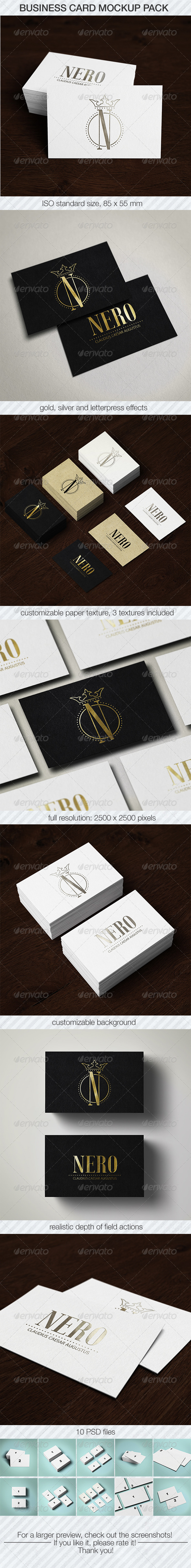 GraphicRiver Business Card Mockup Pack 6134608