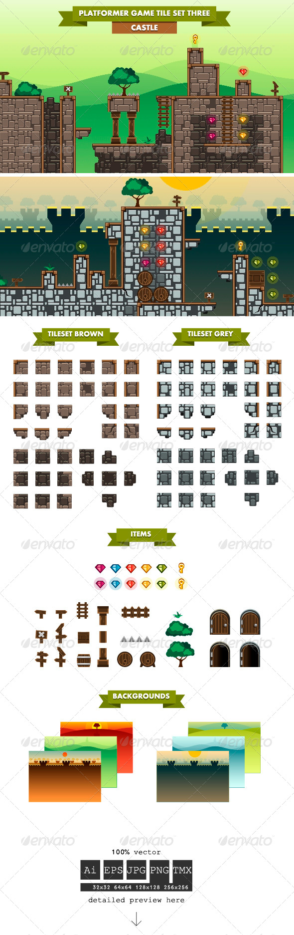 GraphicRiver Platformer Game Tile Set Three 6161241