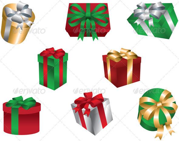 GraphicRiver Christmas Gift Boxes 6161529