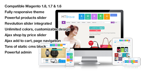 ThemeForest MT Brave multipurpose flat magento theme 6161782