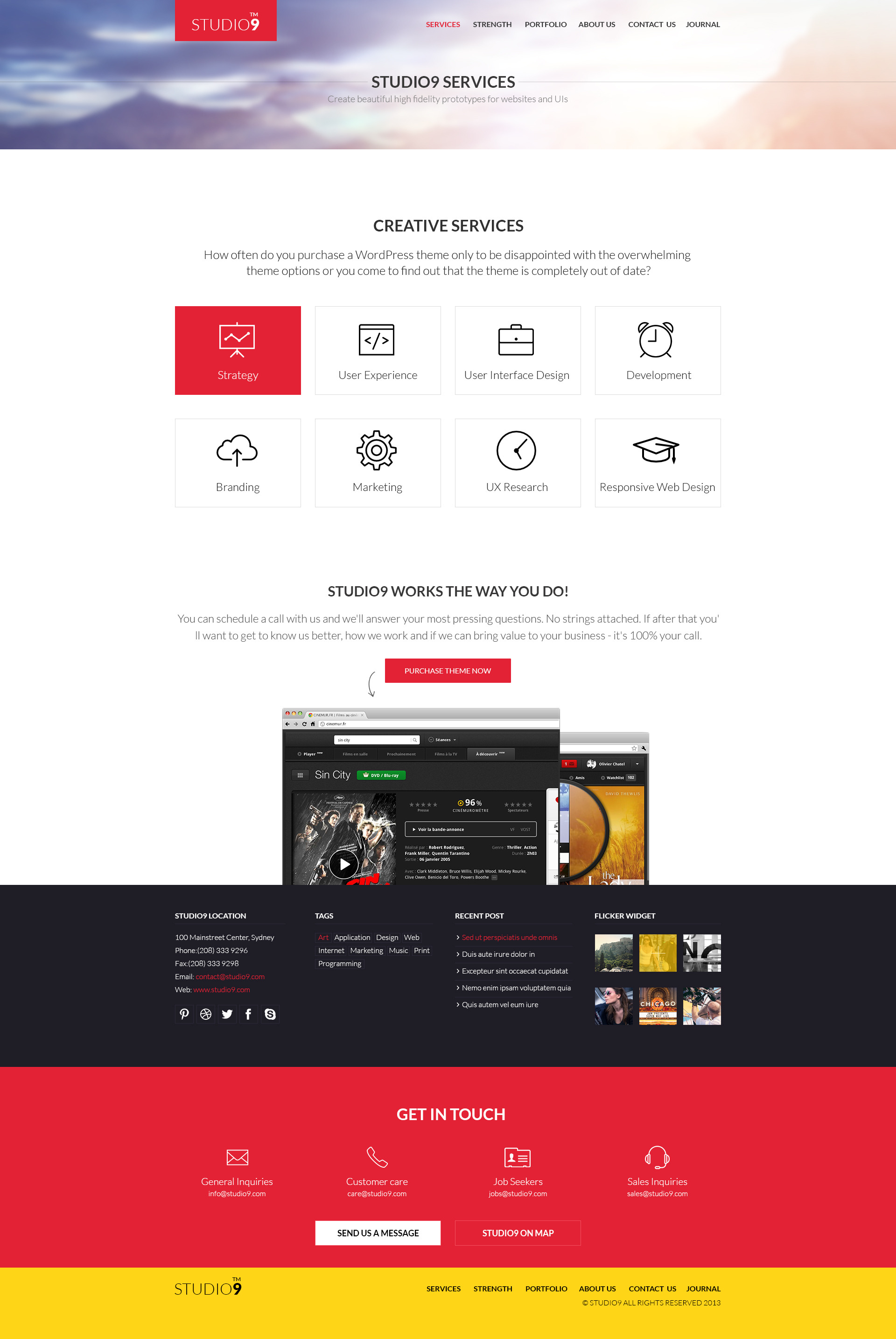 Studio9 - Theme PSD