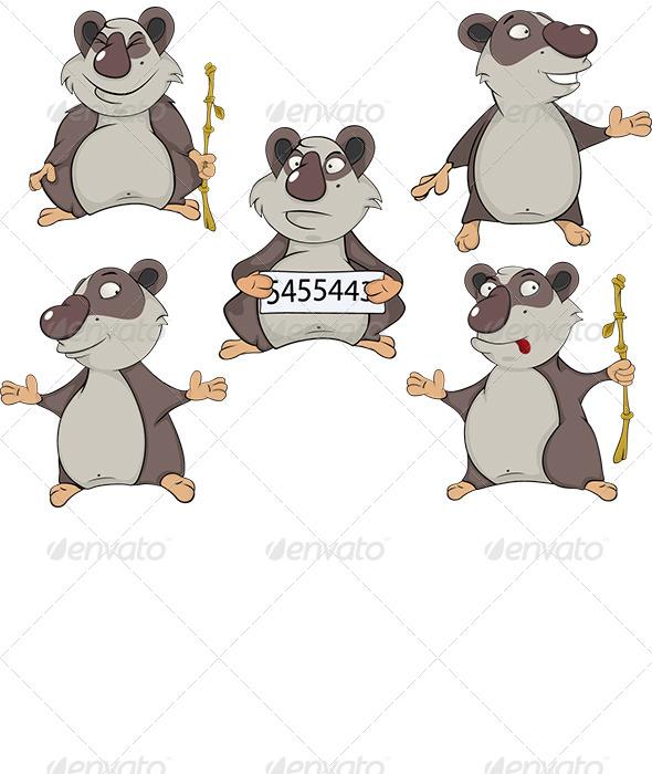 GraphicRiver Panda Clip Art 6162448