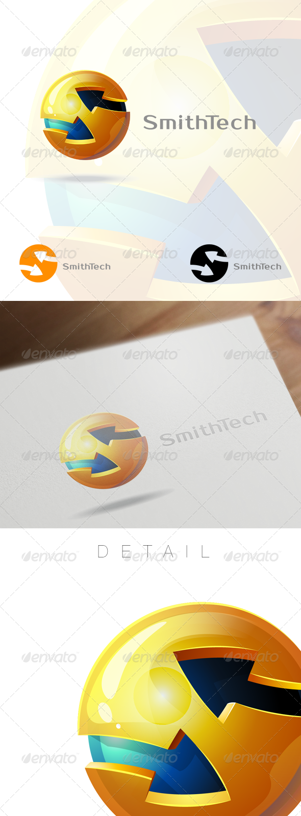 GraphicRiver 3D Globe & Arrow S Letter Business Logo 6162741