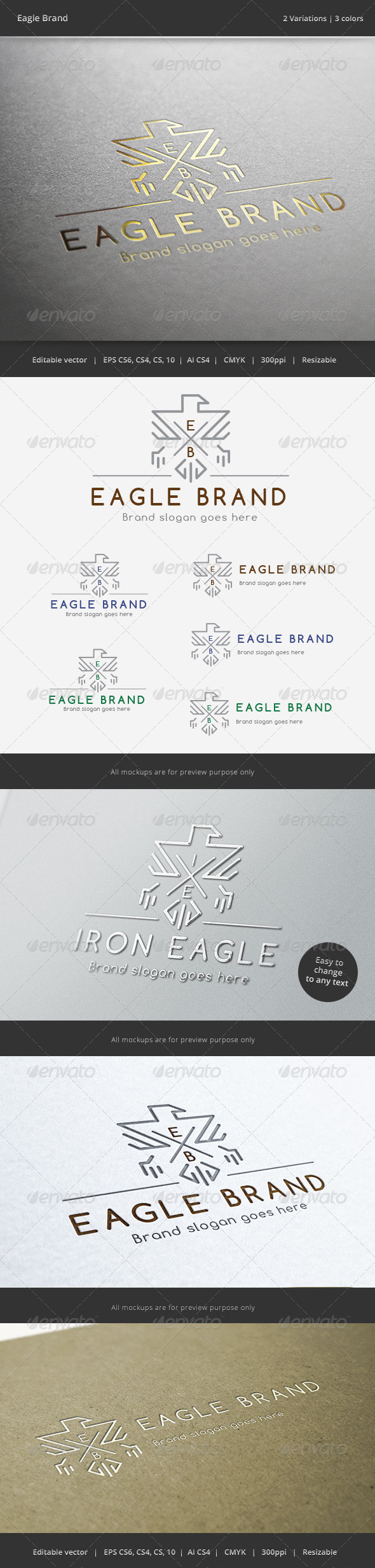 GraphicRiver Eagle Brand Crest Logo 6162877